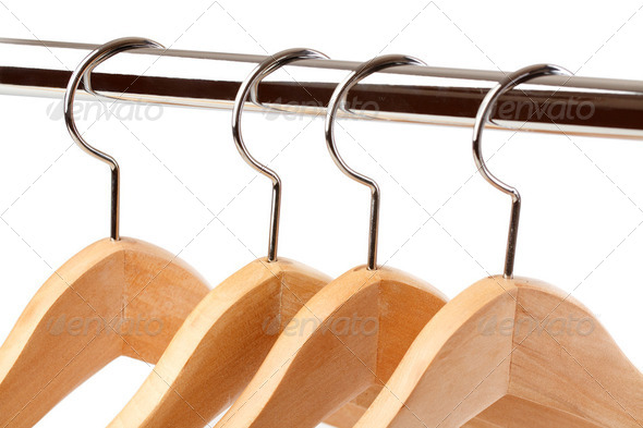 wooden hanger - Stock Photo - Images