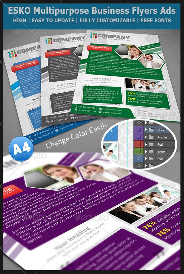 ESKO Multipurpose Business Flyers Ads - Corporate Flyers