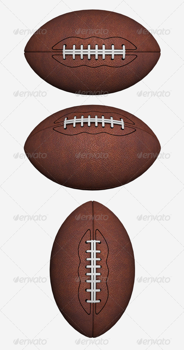 American Football - Objects 3D Renders