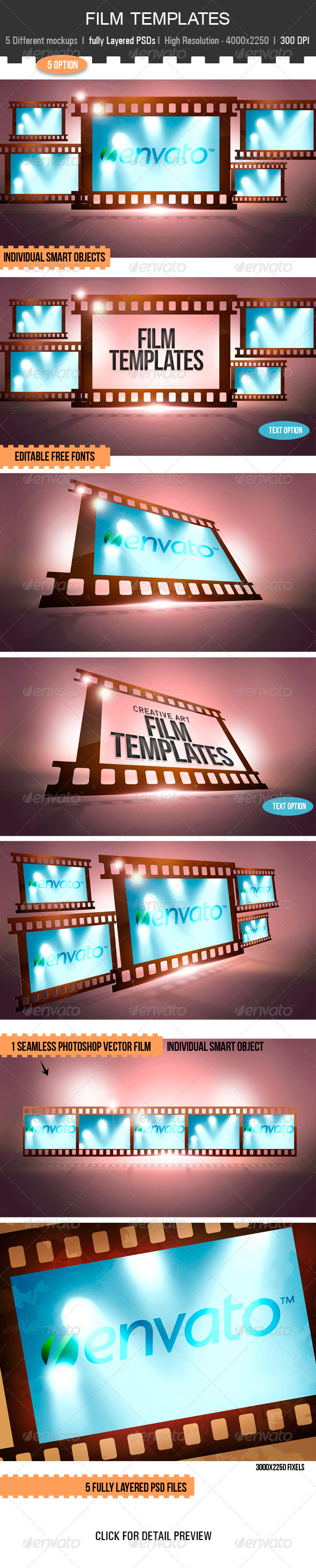 Film Templates - Miscellaneous Displays