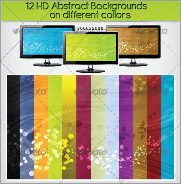 12 HD Abstract Backgrounds on Different Colors - Abstract Backgrounds