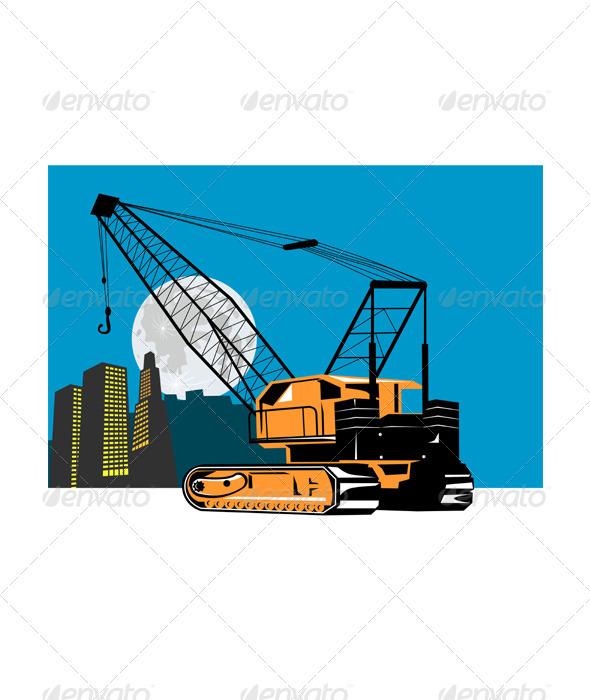 Construction Crane Hoist Retro - Man-made Objects Objects