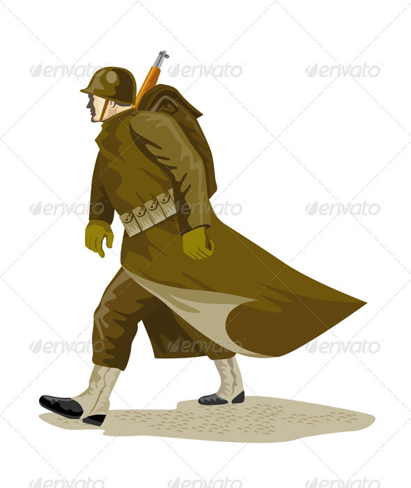 World War Two American Soldier - People Characters