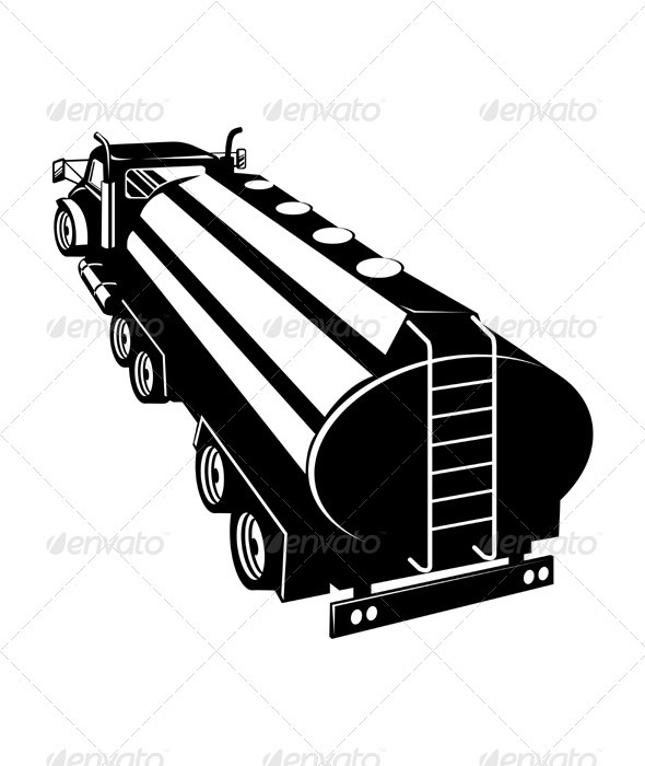 Fuel Tanker Truck Retro - Man-made Objects Objects