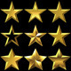 Vector Set of Golden Shiny Stars Bulk - GraphicRiver Item for Sale
