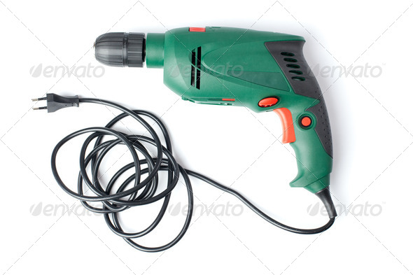 electric drill - Stock Photo - Images
