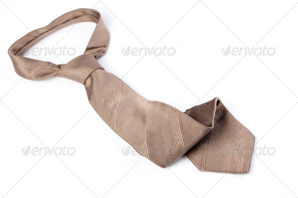 brown tie - Stock Photo - Images
