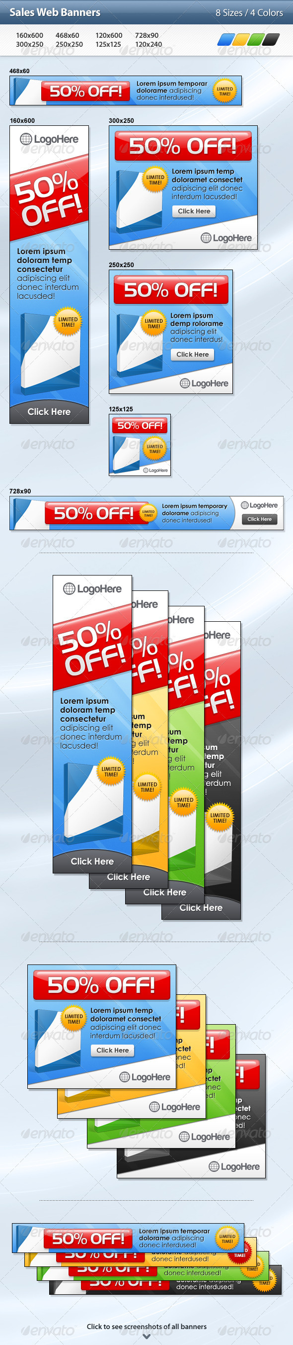 Sales Web Banners - Banners & Ads Web Elements