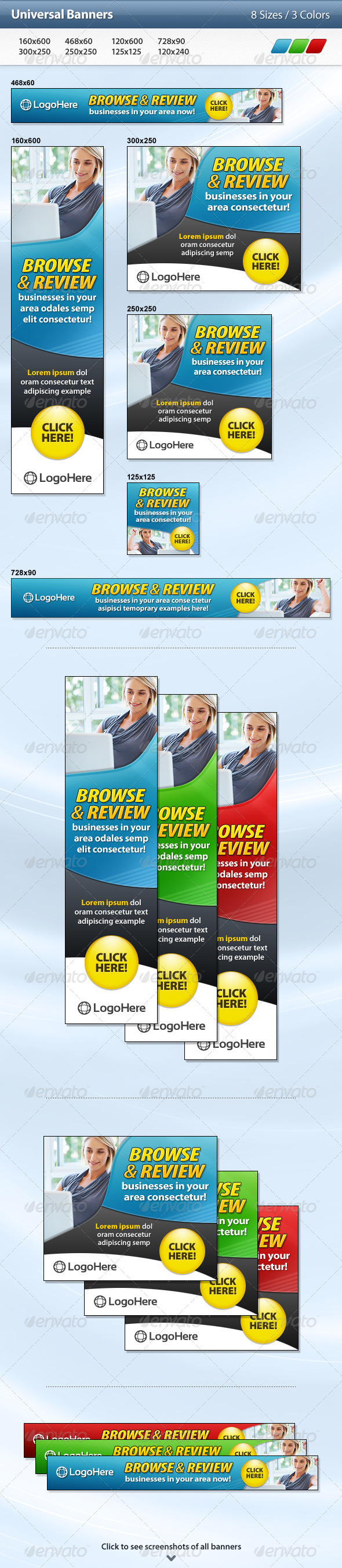 Universal Banners - Banners & Ads Web Elements