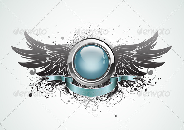 Winged insignia - Decorative Vectors