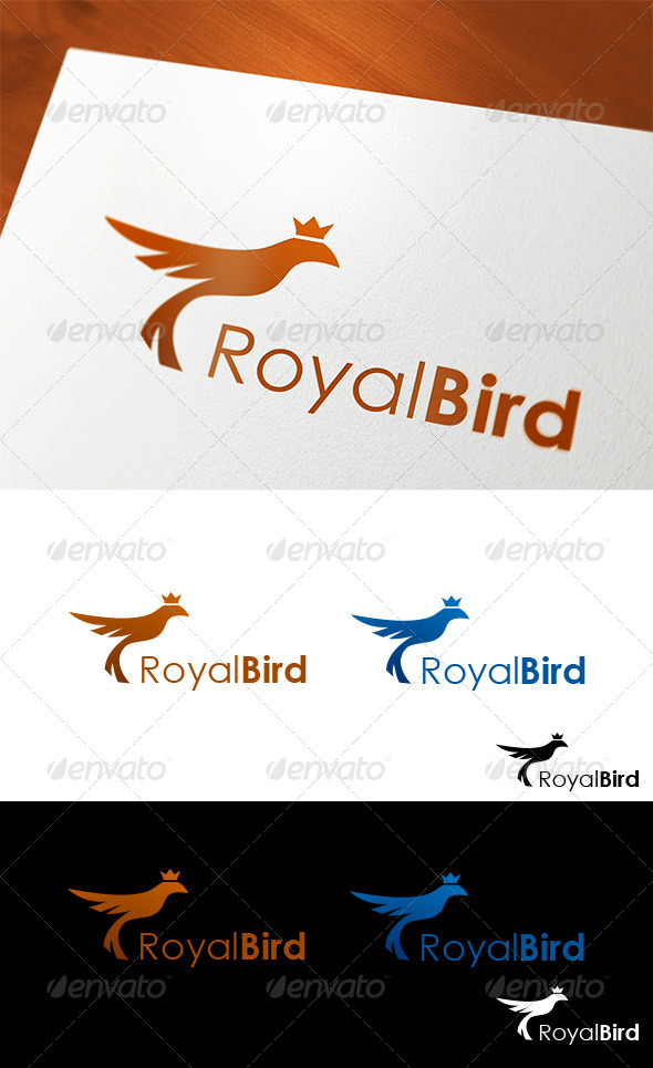 Royal Bird Logo - Animals Logo Templates