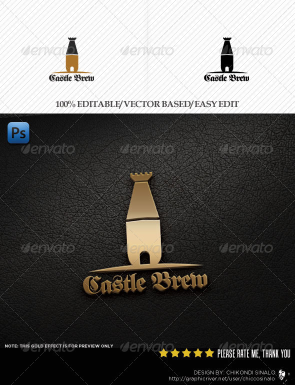 Castle Brew Logo Template - Symbols Logo Templates
