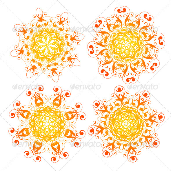 Snowflakes set - Decorative Vectors