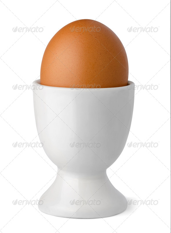 Egg in cup - Stock Photo - Images
