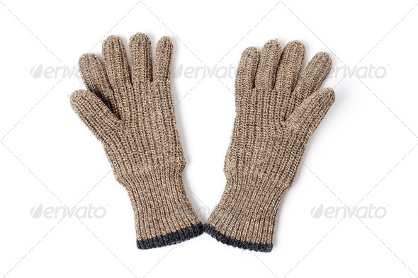 knitted gloves - Stock Photo - Images