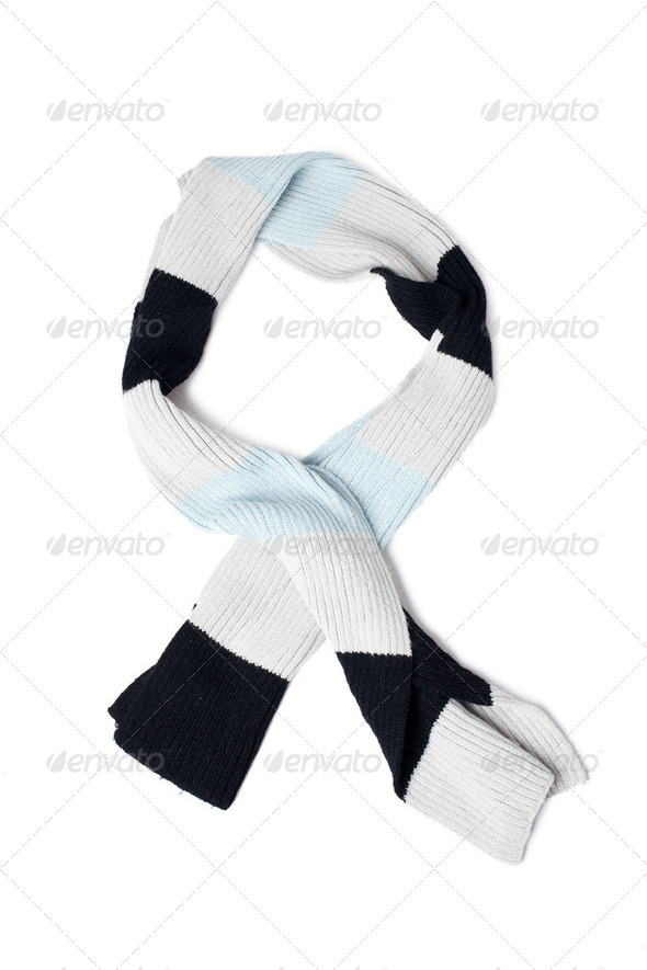 knitted scarf - Stock Photo - Images