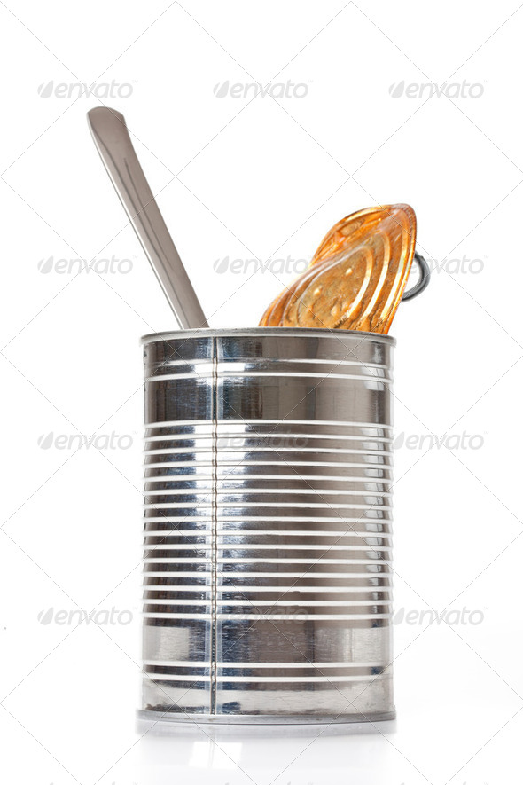 tin can - Stock Photo - Images