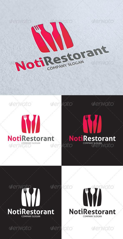 Noti Restorant Logo - Food Logo Templates
