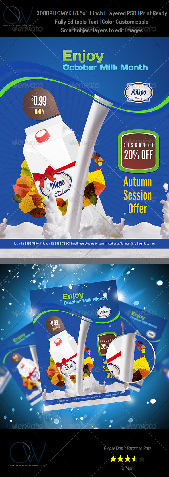 Milk Sale Flyer - Corporate Flyers