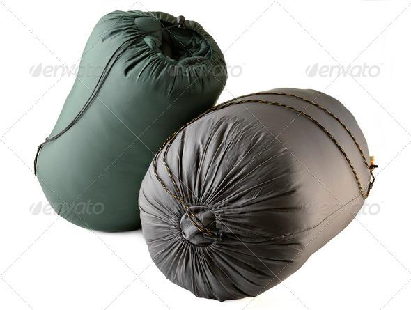 tourist sleeping bag - Stock Photo - Images