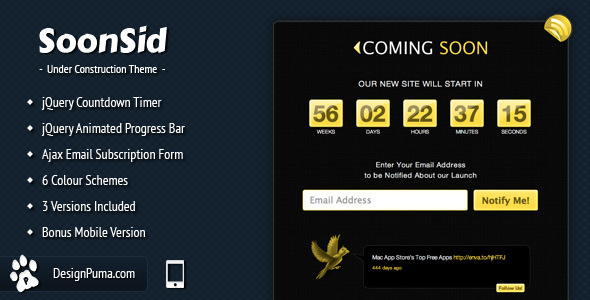 Free Download SoonSid - Coming Soon Theme Nulled Latest Version
