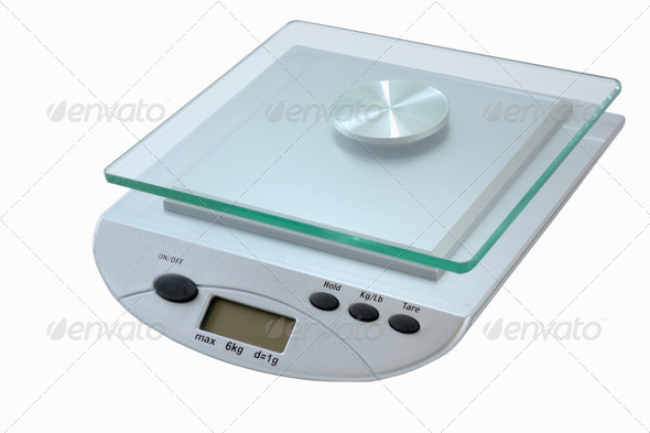 digital kitchen scale - Stock Photo - Images