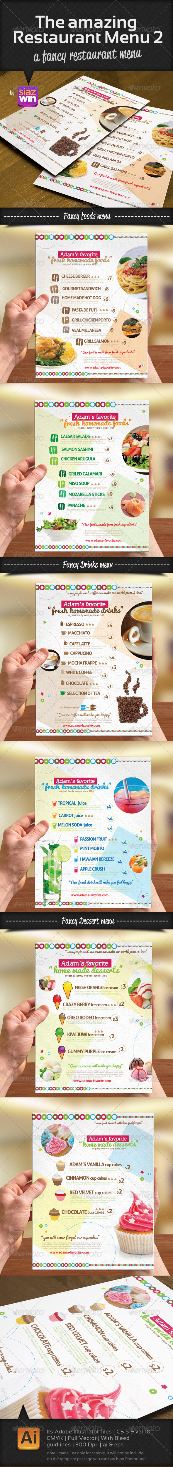 The Restaurant Menu 2 - Food Menus Print Templates