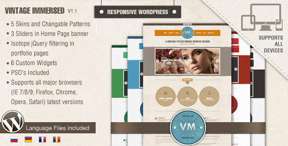 Vintage Immersed – Multipurpose WordPress Theme