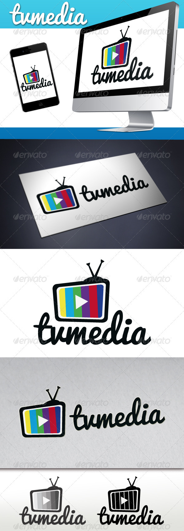 Tv Play Media Logo - Objects Logo Templates