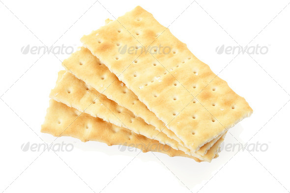 Crackers on white - Stock Photo - Images
