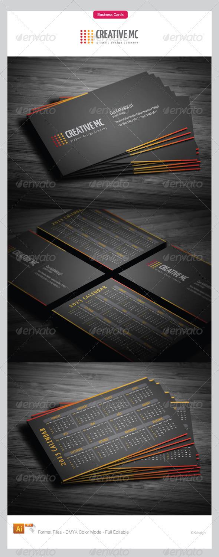 2013 calendar business cards 135 - Corporate Business Cards