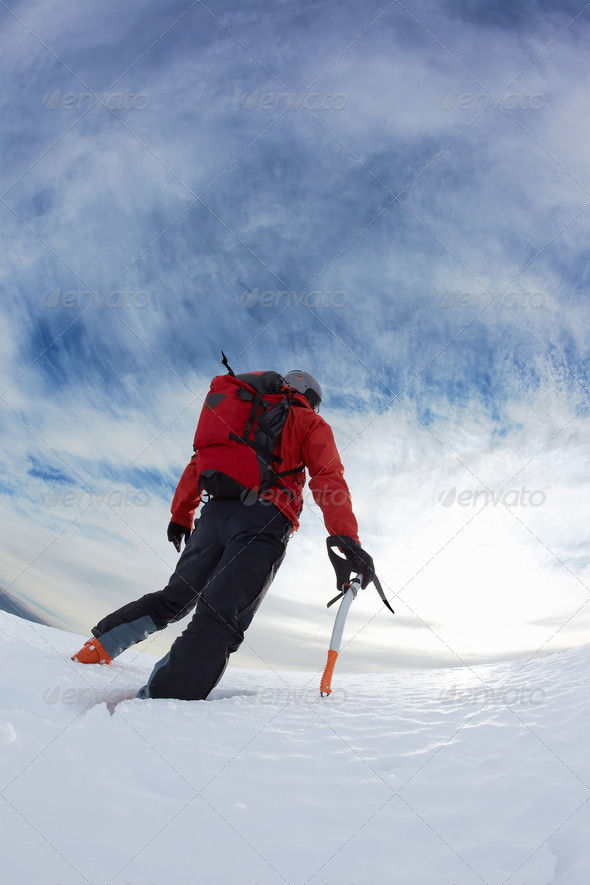 Winter climbing - Stock Photo - Images