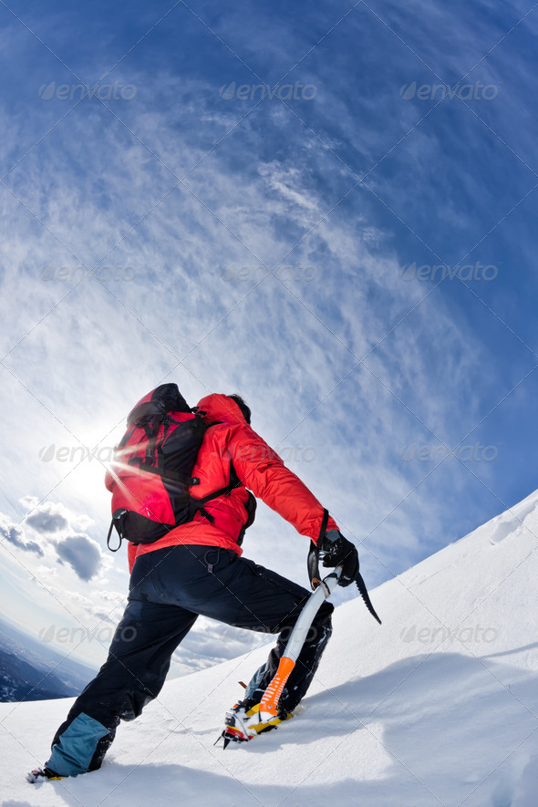 Mountain climber - Stock Photo - Images