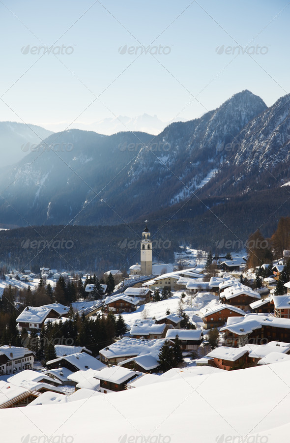 Mountain village - Stock Photo - Images