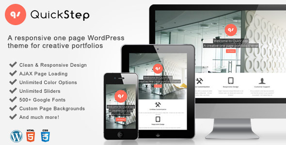 QuickStep – Responsive One Page Portfolio Theme