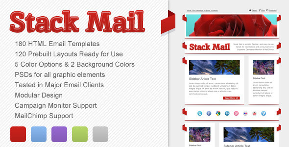 Stack Mail - Email Template - Newsletters Email Templates