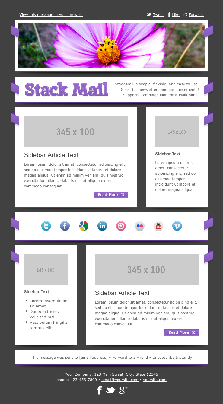 Stack Mail - Email Template by Creekjumper | ThemeForest