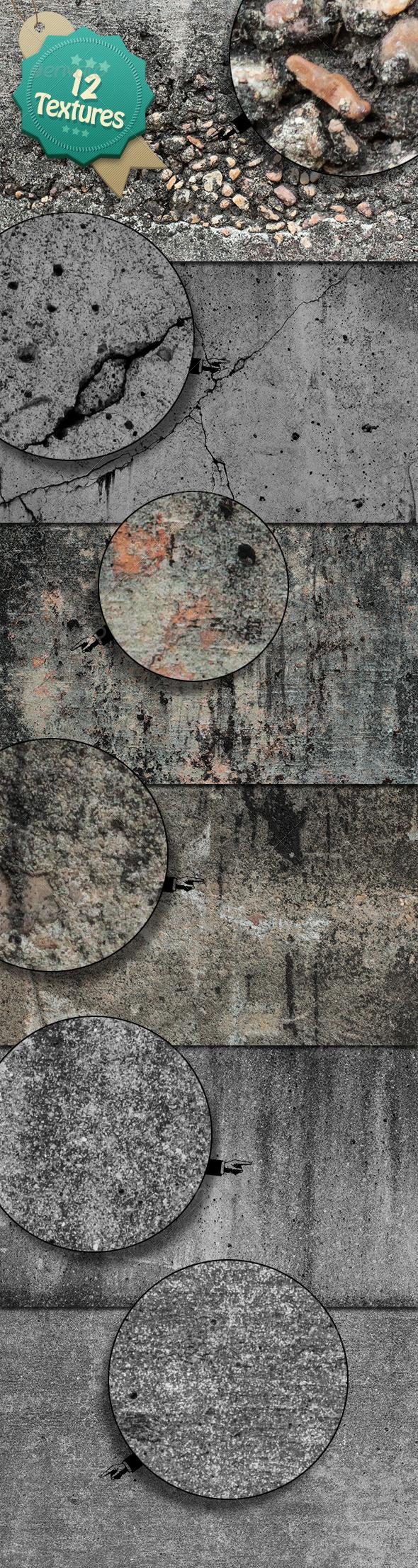 Grunge Concrete Textures - Industrial / Grunge Textures