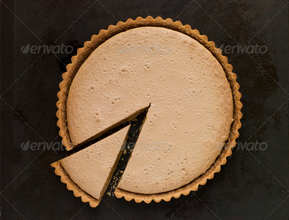 Whole Gypsy Tart with a Slice - Stock Photo - Images