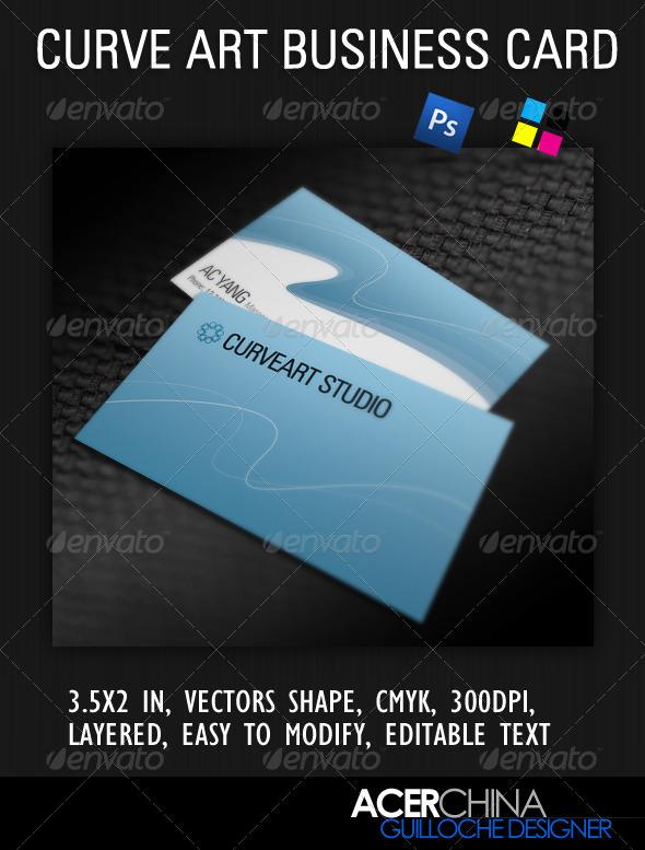 Curve Art Business Card - Creative Business Cards