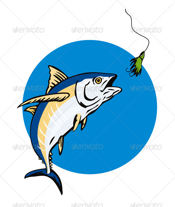 Albacore Tuna Fish Retro - Animals Characters