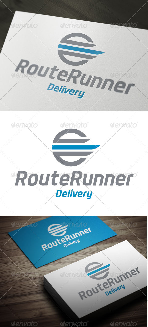 Route Runner - Abstract Logo Templates