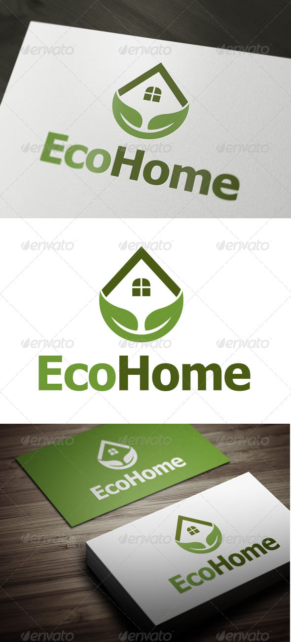 Eco Home - Buildings Logo Templates
