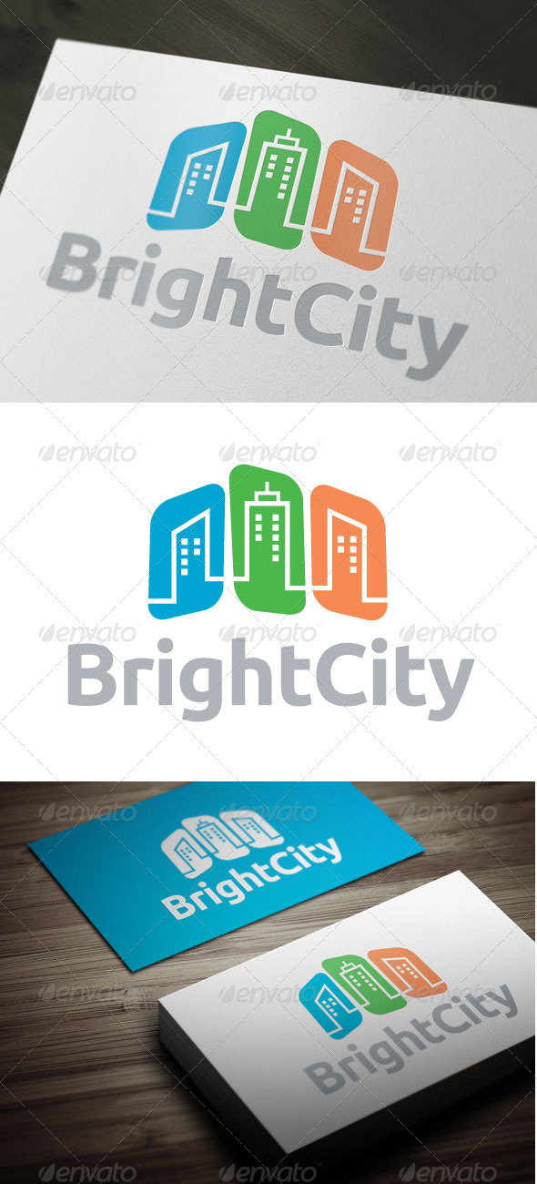 Bright City - Buildings Logo Templates