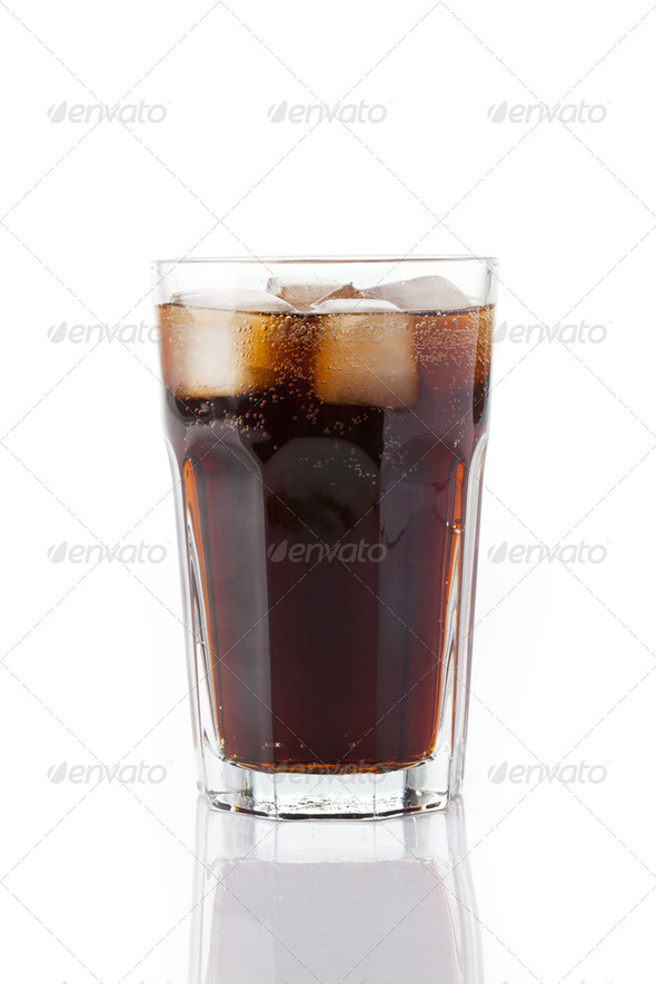cold cola with ice - Stock Photo - Images