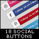 18 Social Button - GraphicRiver Item for Sale