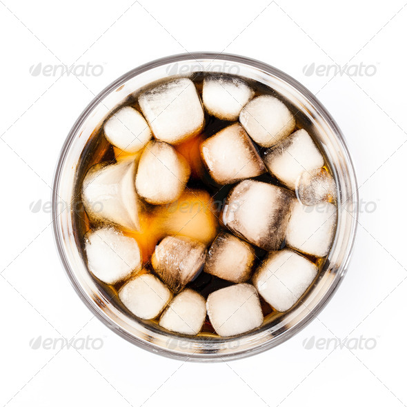 ice in cola drink - Stock Photo - Images