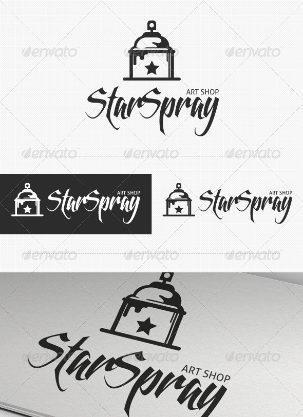Star Spray Logo - Symbols Logo Templates