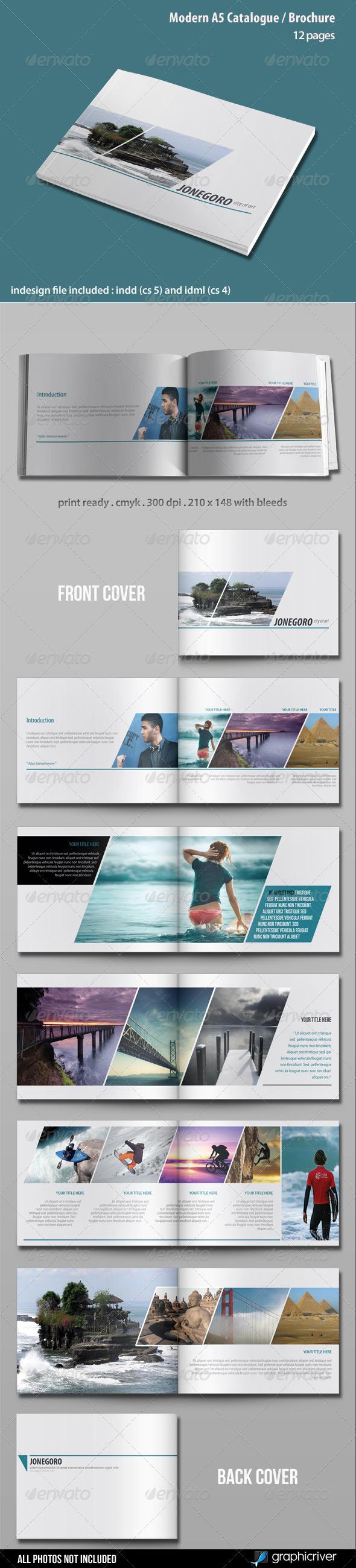 Modern A5 Catalogue / Brochure - Catalogs Brochures