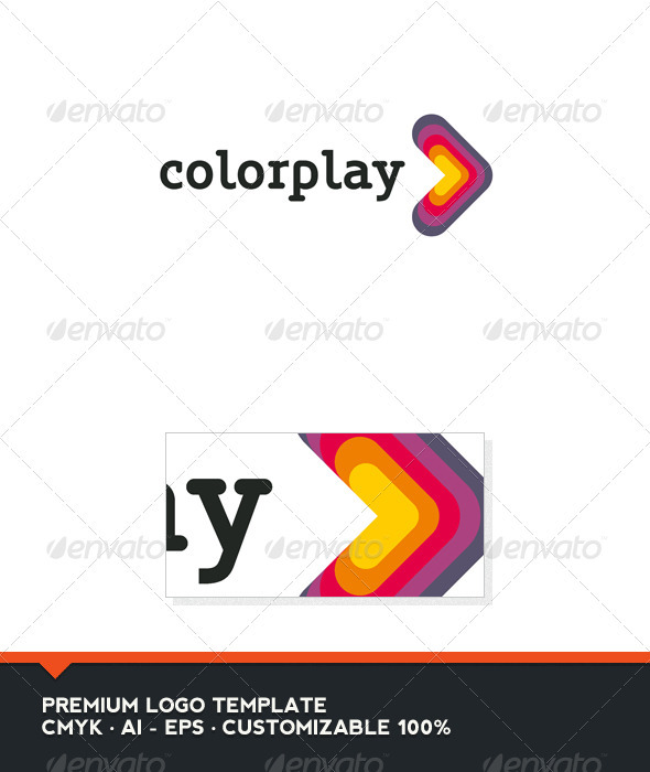 Color Play Logo Template - Abstract Logo Templates
